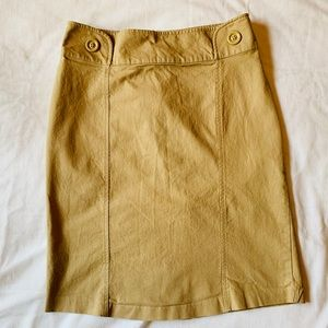H&M Tan Cotton/Spandex Pencil Skirt Office Ready